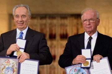 Yitzhak Rabin Shimon Peres Nobel Peace Prize