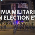 bolivia military election eve