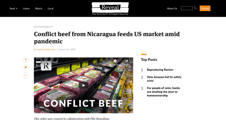 Reveal Nicaragua conflict beef