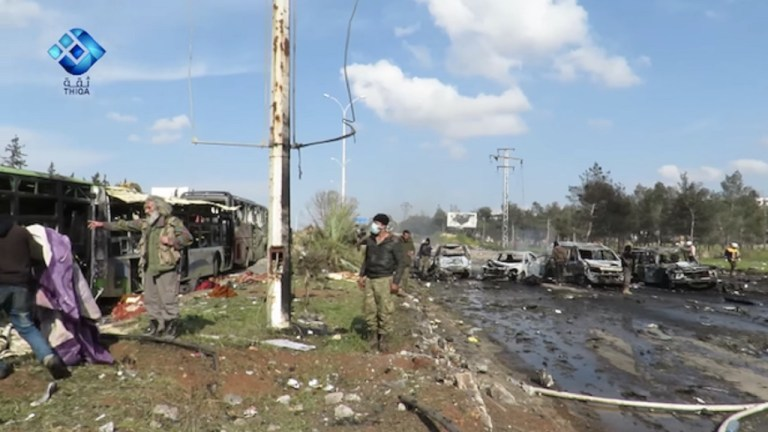 Rashidin bus bombing Syria Shia media hiccup