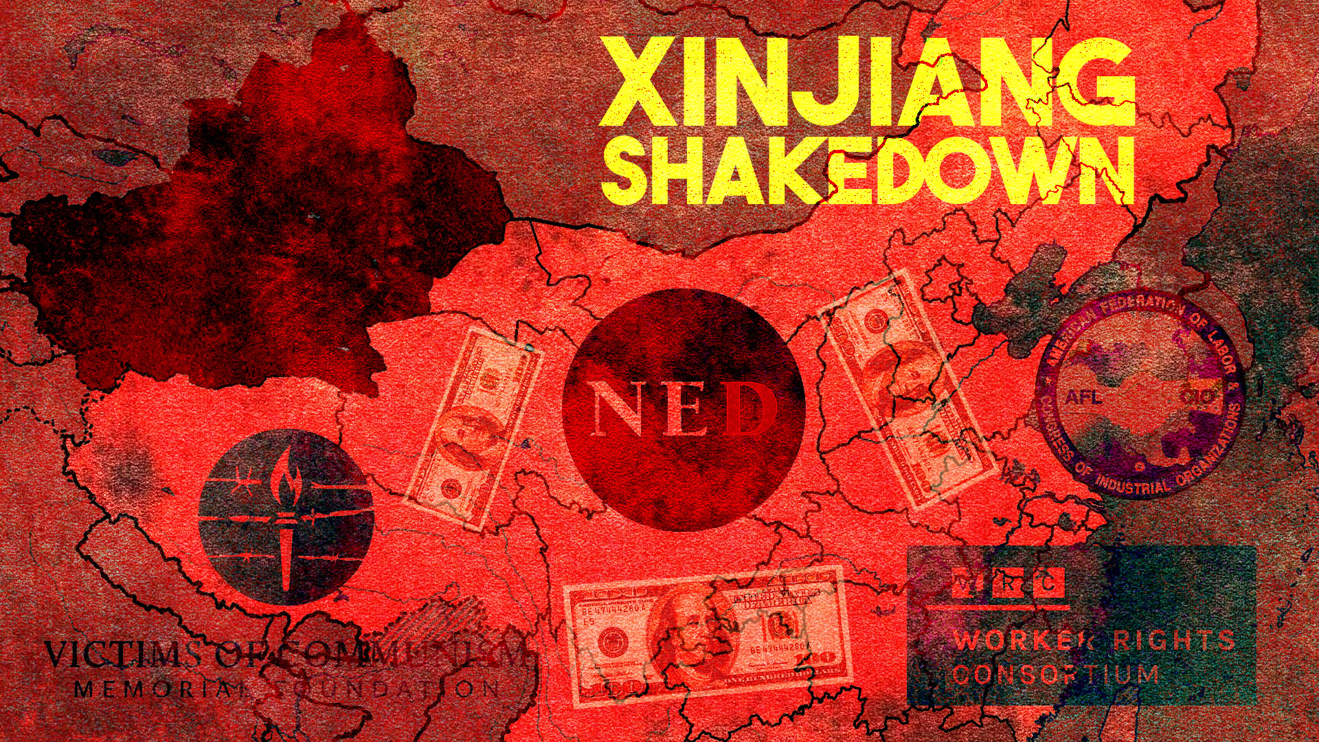 China Xinjiang NED AFL CIO Workers Rights Uighurs