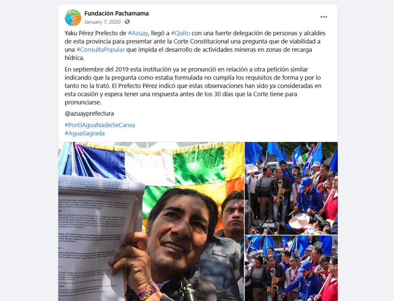 Fundacion Pachamama Yaku Perez Ecuador NED