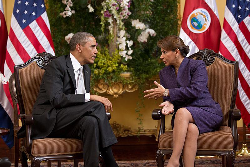 Laura Chinchilla Costa Rica Obama EE. UU.