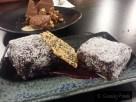 Frozen Lamington - Coconut Partait, Chocolate, Raspberry