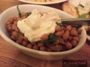 Sauteed Chick Pea Salad with Lemon,Spinach & Natural Yoghurt