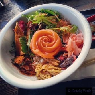 Sashi Don - Salmon Ocean Trout Sashimi on Rice