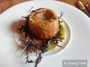 Twice Baked Mushroom and Taleggio Souffle, Mizuna, Nashi Pear & Walnut Salad, Walnut Oil