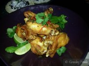 Sticky chicken wings with crispy jalapeno & coriander