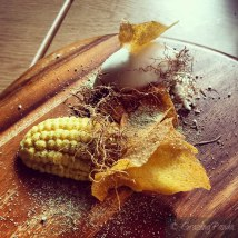 Baked Sweetcorn Cream, Popcorn Ice Cream, Toasted Maize and Brown Butter