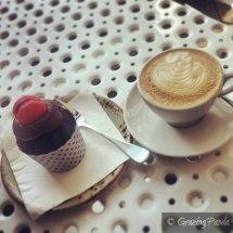 Chocolate Cupcake and Latte