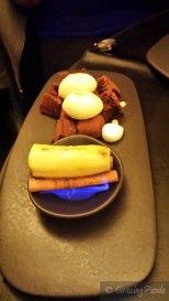 Banana Flambe - Rum, Cinnamon, Rosemary, Chocolate Sponge, Vanilla and Caramelized White Chocolate Ice Cream