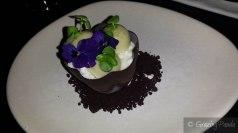 Basil Garden – Dark Chocolate, Vanilla, Olive Oil, Honey, Basil, Lime, White Chocolate & Meringue