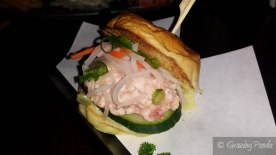 Lobster Slider - Lobster kewpie salad, pickled carrot and daikon, corn brioche bun