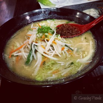 Vegetarian Ramen - Mix vege, choose from miso or soy sauce or hakata sea salt flavoured broth