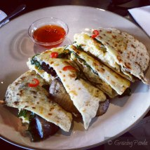 Breakfast Quesadillas with Scrambled Eggs ,Cheese, Spinach & Black Eyed Beans