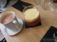 Hot Chocolate and Layered Chocolate