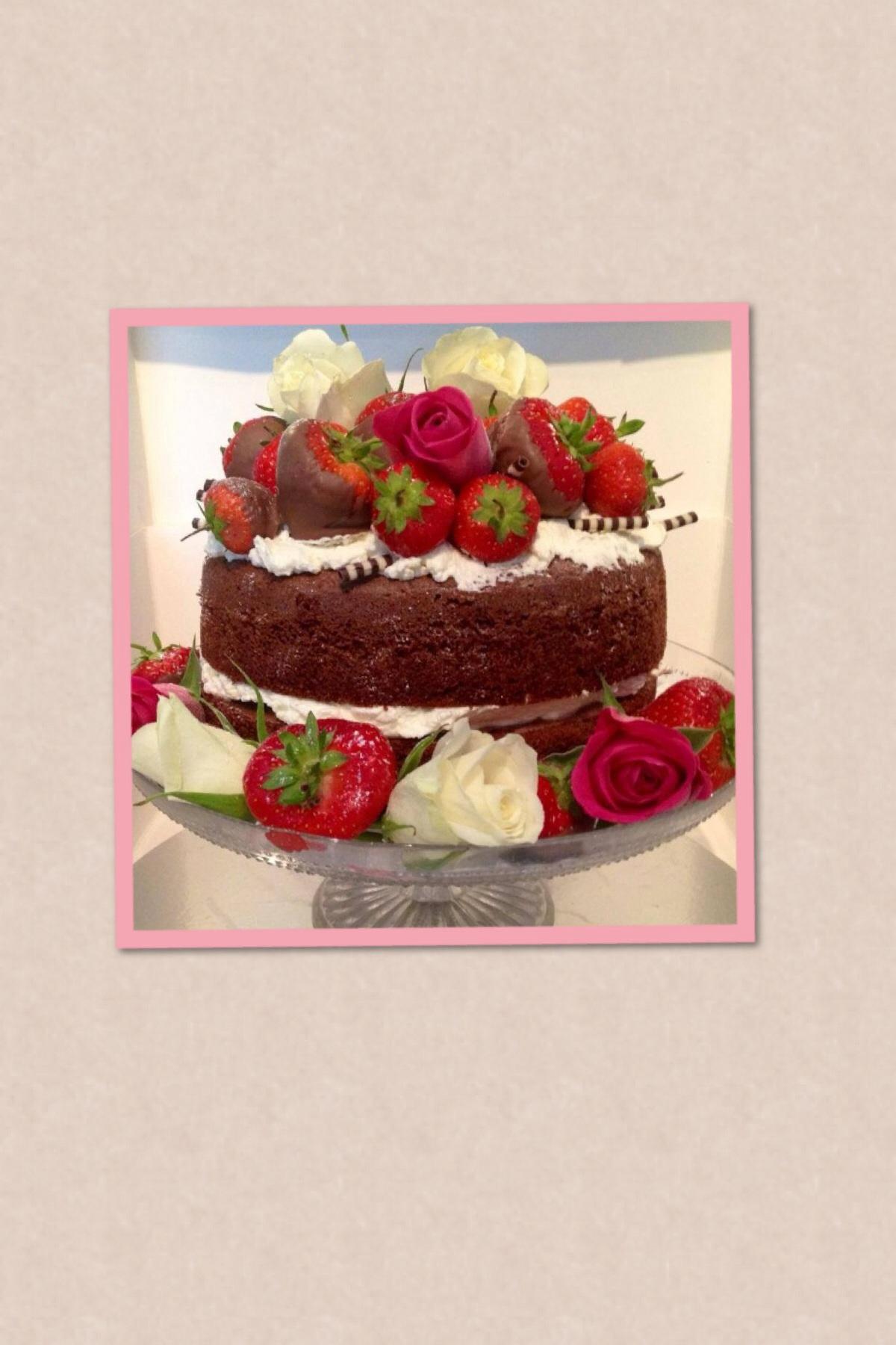 Chocolate Naked Birthday Cake The Great British Bake Off