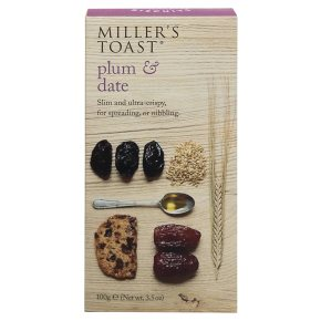 Millers Toasts Plum & Date