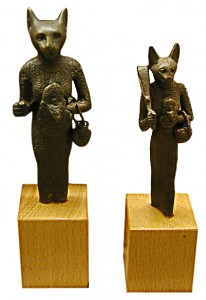 Bronze figures of Bastet Late period