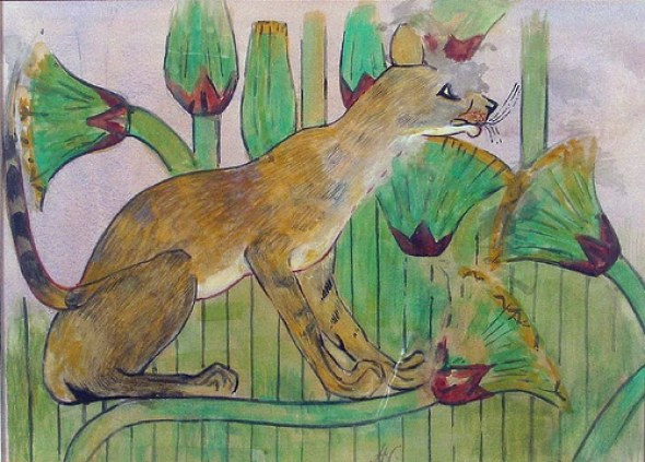 Cat in the marshes by Howard Carter