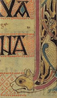 Lindisfarne gospel cat detail, Cats in Lindesfarne Gospel and Book of Kells.