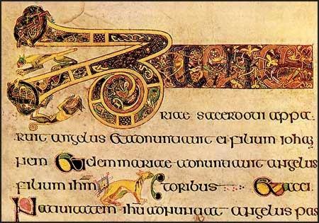 kells cats in the lines of the manuscript Folio19 Breves causae of Luke, Cats in Lindesfarne Gospel and Book of Kells