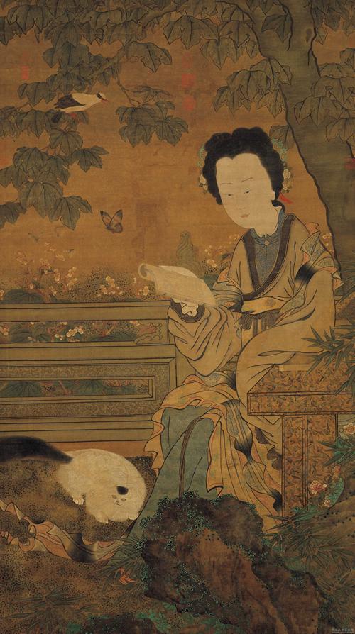 Lady Chou Wen-chu, Five Dynasties, 10th Century cat in china