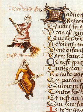 WaldensiansaswitchesinLeChampiondesDamesbyMartinLeFrance,1451, history of the cat in the middle ages