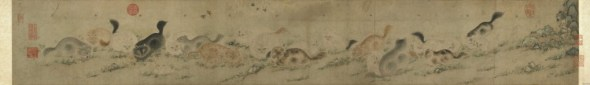 Cats and Grasses T'ao Ch'eng Ming Dynasty 1368-1644, cat in Ming and Ching dynasty paintings