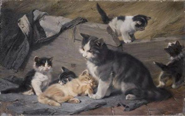 Katzenfamilie Julius Adam II Private Collection