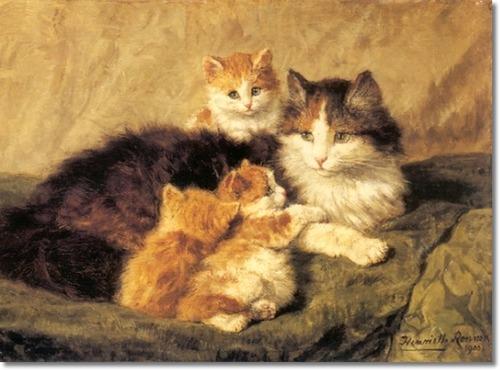 Contentment Henriette Ronner-Knip 1900 cats in art