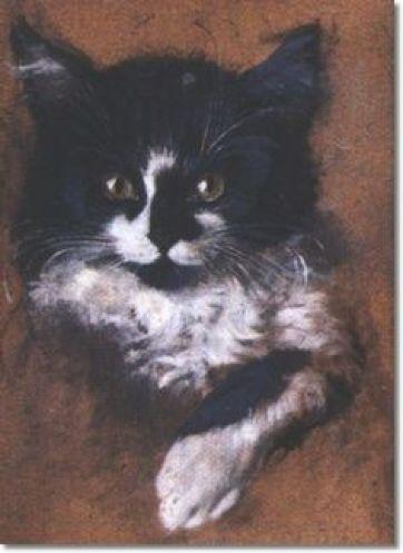 Portrait of a Cat Julius Adam II cats in art