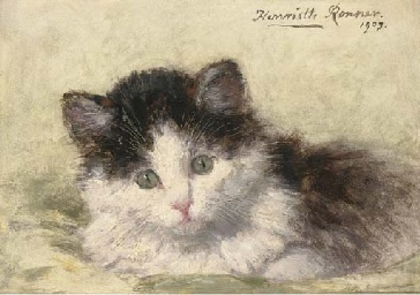 An Inquisitive Look Henriette Ronner-Knip 1903 Private Collection