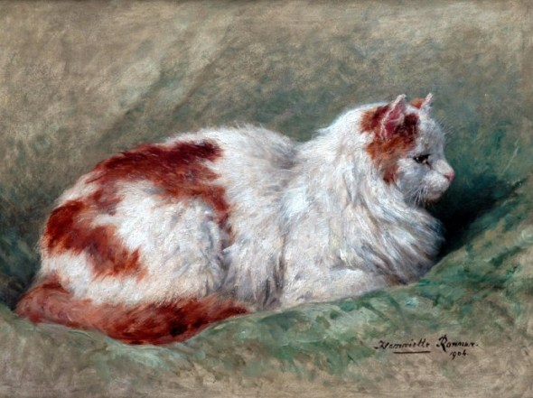 Cat Sitting on Pillow Henriette Ronner-Knip 1904 Private Collection