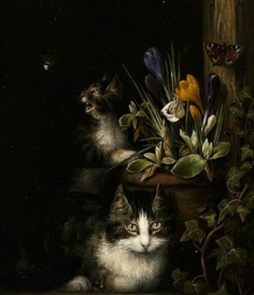 Cat and Kitten Henriette Ronner-Knip 1838 Private collection