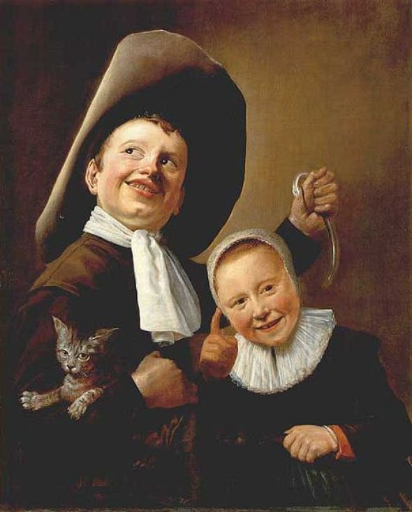 A Boy and Girl with a Cat and Eel Judith Leyster (1609-1660) National Gallery, London
