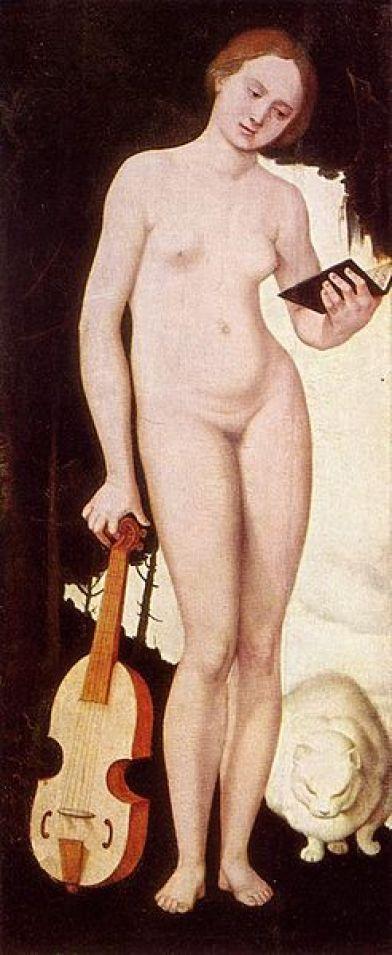 Music with cat Hans Baldung 1529 Pine Panel Alte Pinakothek, Munich