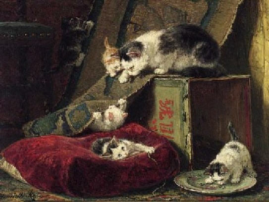 Hide and Seek Henriette Ronner-Knip Private Collection