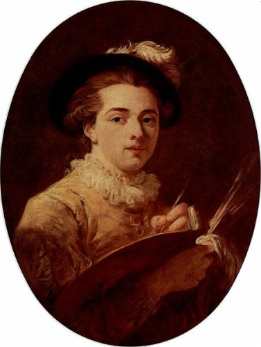 Self Portrait Jean-Honoré Fragonard 1760-1770 Musee Fragonard Grasse, France cats in art