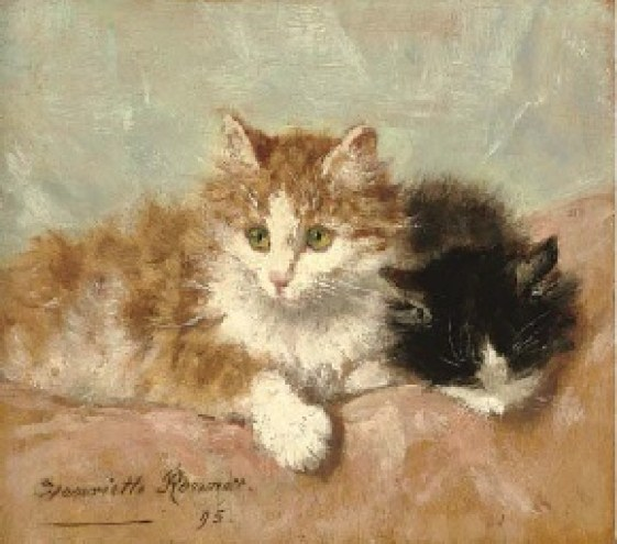 Resting Kittens Henriette Ronner-Knip Oil on Panel 1895 Private Collection