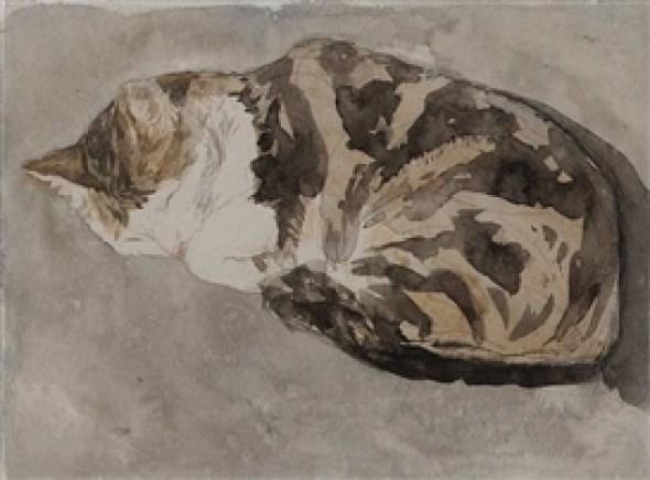 Sleeping Tortoiseshell Cat Gwen John