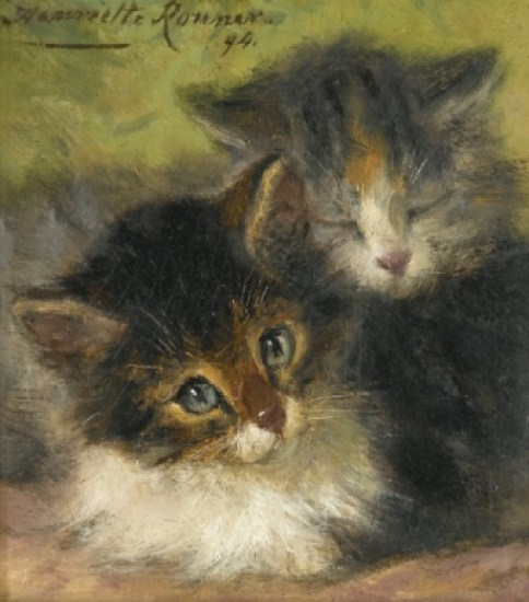 Two Kittens Henriette Ronner-Knip Private Collection