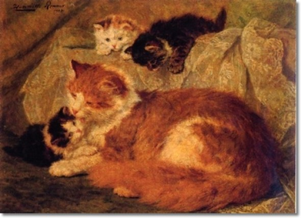 Cat Family Henriette Ronner-Knip Private Collection