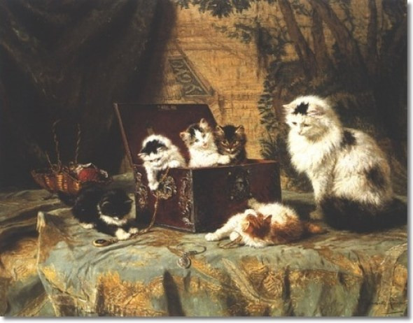 Playing with Jewels Henriette Ronner-knip Private Collection