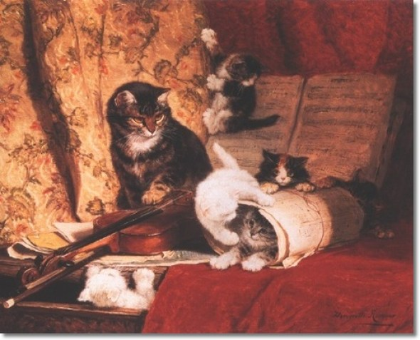 The Violin Lesson Henriette Ronner-Knip Private Collection
