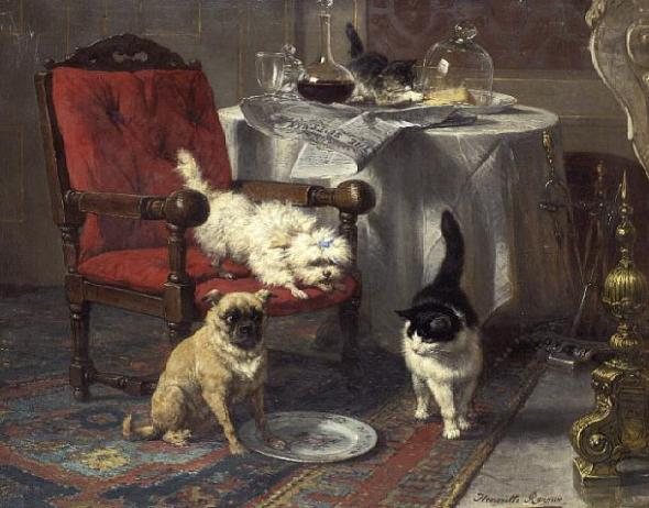 The Empty Plate Henriette Ronner-Knip Private Collection