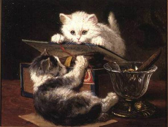 Playful Kittens Henriette Ronner- Knip Private Collection