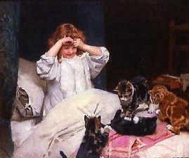 Early Risers Arthur John Elsley 1890 Private Collection kittens in art