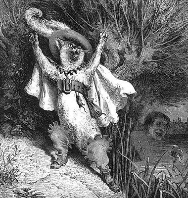 Puss in Boots Gustav Dore 1832-1883 cats in history