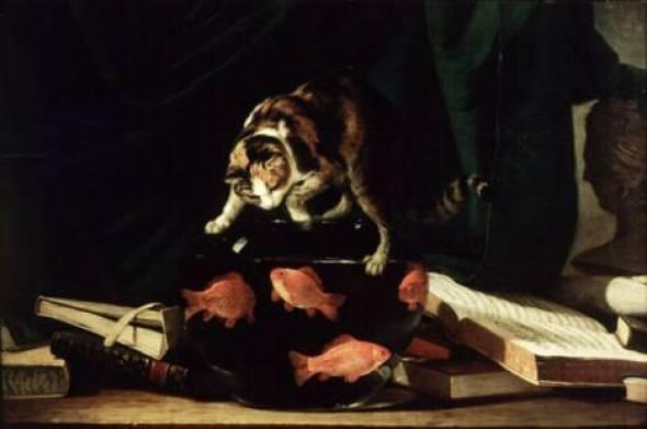 Mr. Horace Walpole's Favorite Cat after Goldfish Stephen Elmer 1796